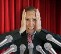 Scared public speaker